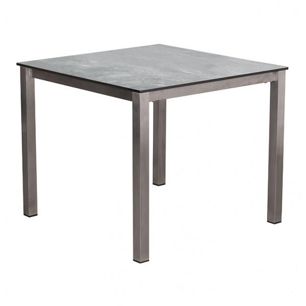Tisch Willington Edelstahl HPL 90 x 90 cm plumbum