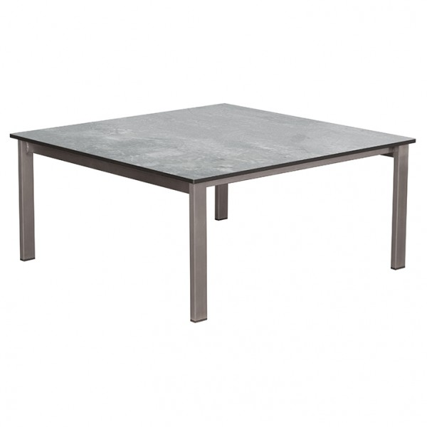 Loungetisch Willington Edelstahl HPL 80 x 80 cm plumbum