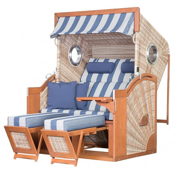 Strandkorb deVries PURE® Seaside XL PE seashell Dessin 434