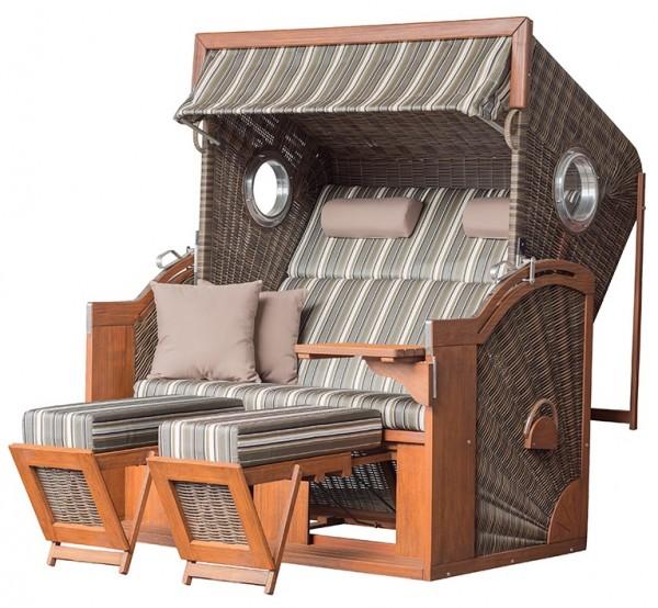 Strandkorb TRENDY PURE Seaside XXL PE antique brown Dessin 440