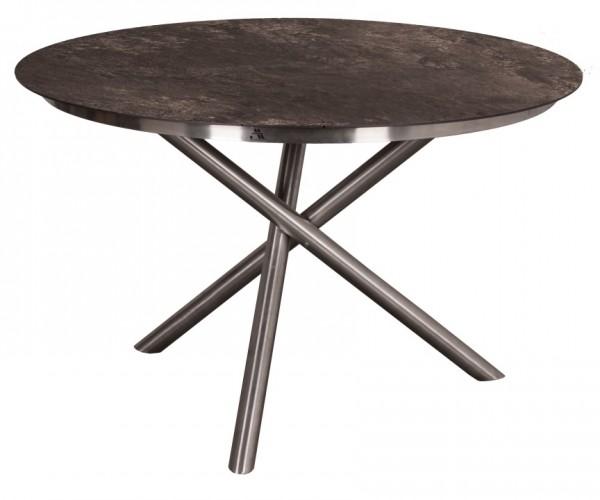 Tisch Willington Edelstahl HPL rund ø 120cm deVries