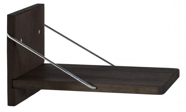 Strandkorb Zusatzklapptisch Twin Compact/ Standard/Eco Hartholz dunkel lasiert