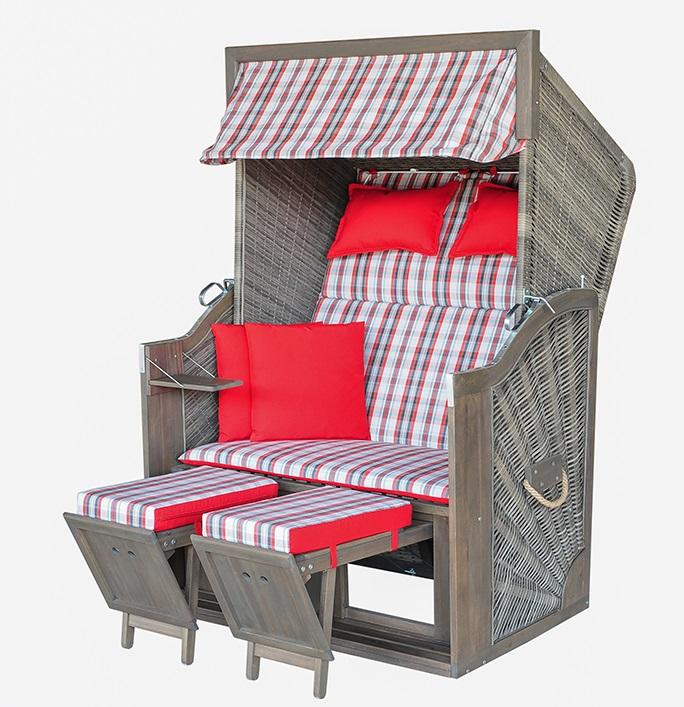 strandkorb trendy pure greenline 120 pe grey dessin 700. Black Bedroom Furniture Sets. Home Design Ideas