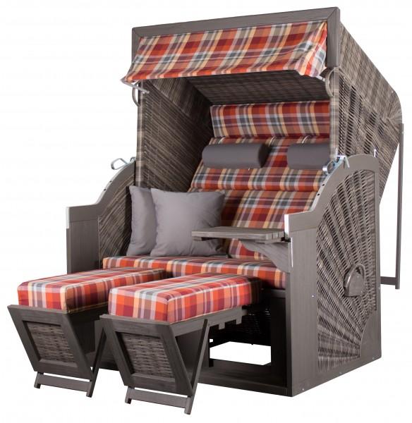 Strandkorb deVries PURE® Comfort XL PE grey Dessin 429