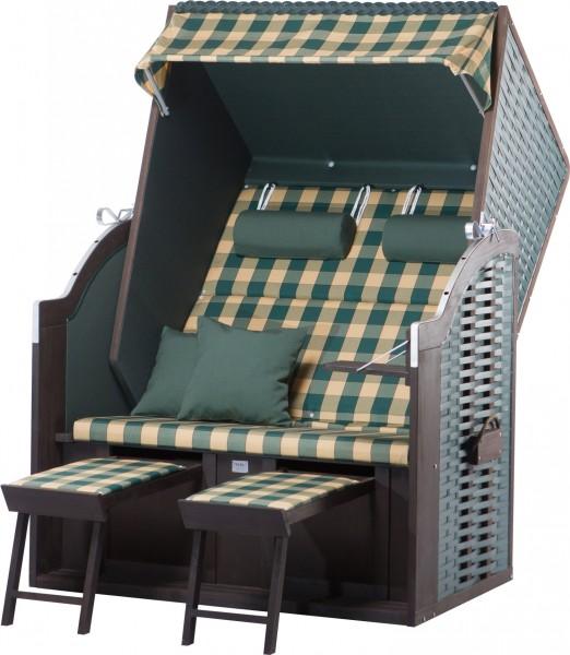 Strandkorb Twin Compact PE green Dessin 353