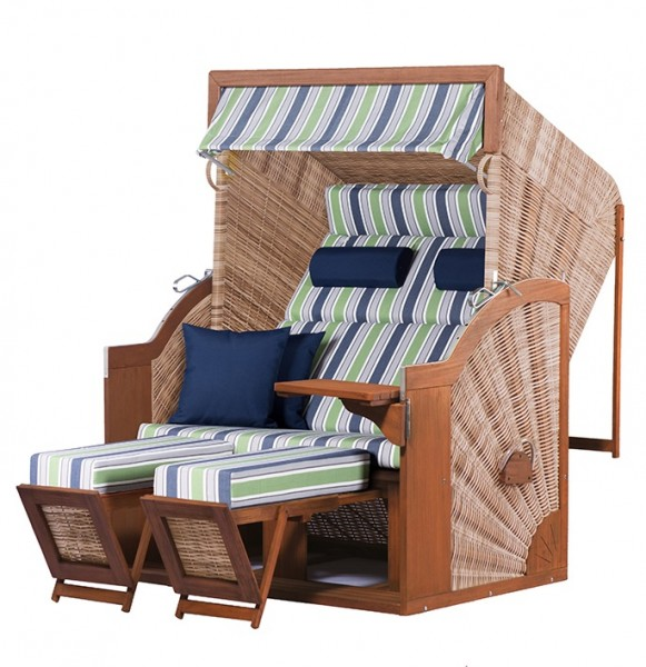 Strandkorb deVries PURE® Comfort XL PE griseum Dessin 430