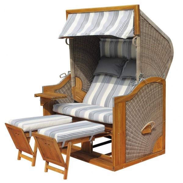 Strandkorb deVries PURE® Greenline 170XL PE walnut Dessin 663