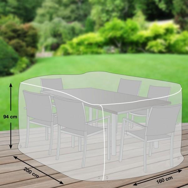 Schutzhaube Premium Polyester für eckige Sitzgruppen