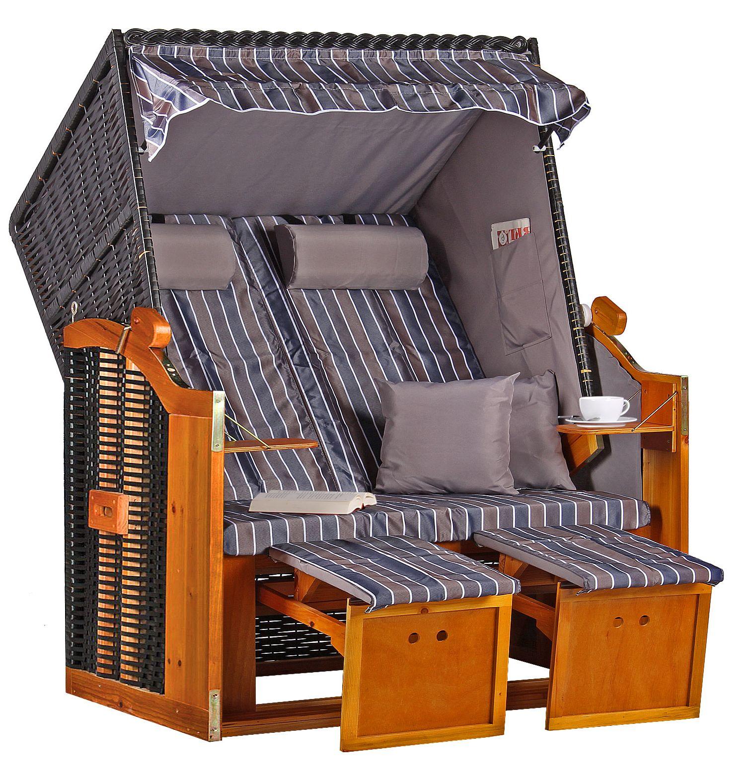 strandkorb baltic pe schwarz dessin braun grau anthrazit. Black Bedroom Furniture Sets. Home Design Ideas